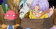Potage, Monaka, Trunks e Goten catturati