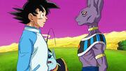 Beerus incontra Goku