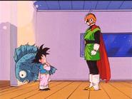 El Gran Saiyaman junto a Goten