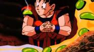 Goku con enzimas en su cuerpo