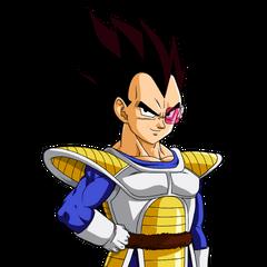 Vegeta in Dragon Ball Z, Saga dei Saiyan.