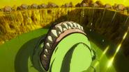 Bah emergiendo del cráter