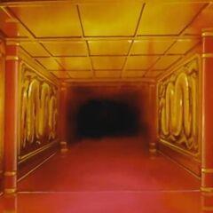 Il corridoio d'ingresso che conduce all'interno del palazzo.