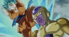 Goku attaque freezer
