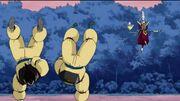 Goku e Vegeta fanno le flessioni
