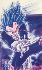 Vegeta Super Saiyan Azul Perfeccionado evolucionado manga