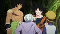 Goku, Broly, Cheelai, and Lemo