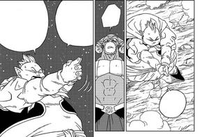 Grande Kaiohshin minaccia Moro manga