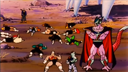 DXRD Caption of 12 dead King Cold's soldiers (after Future Trunks' attack) infront of him & Meca-Frieza