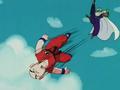 Piccolo kicks Krillin