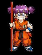 Arale con traje de Goku Artwork