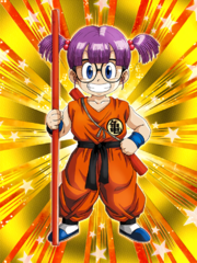 Dokkan Battle Child's Play Arale Norimaki Goku Cosplay card