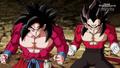 SSJ4 Goku and Vegeta Xeno