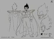 Sketch DBZ11 Rey Vegeta