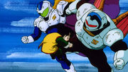 Wings and Angila attack Gohan