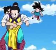 Chi-Chi enojada con Goku