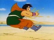Invisible man beating Yamcha
