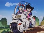Motocicleta - Bulma y Goku