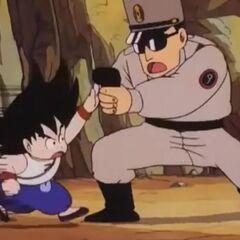 Son Goku affronta la polizia di Brown Country.