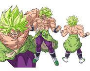 Broly Super Saiyan Máximo Poder Boceto