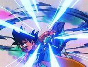 Goku attacca Ryu Shenron