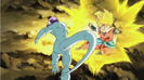 Frieza attacks beat