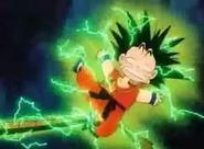 Goku electrocutado