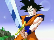 Z-Sword portée par Son Gokû