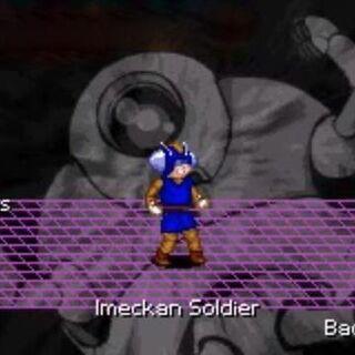 Un soldato di Imegga nel videogioco Dragon Ball GT Transformation.