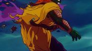 Goku perforando a Slug