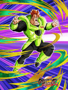 Dokkan Battle Resurrection Amid Mayhem Android 16 card (DB FighterZ New Model Android 16)