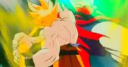 Puño de Máxima energía-Goku derrota a Broly