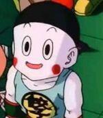 Chiaotzu sits in the crowd in DBZ Movie 9 - Bojack Unbound