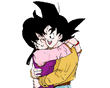 Goku and Chichi hug2 by dbzsisters