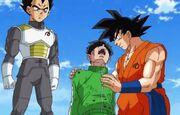 Goku salva Gohan da Freezer