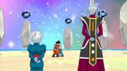 GranSacerdote Whis observan Goku