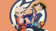 Krilin y Luffy Dragon Ball Kai x One Piece