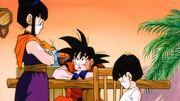Goku,ChiChiAndGohan