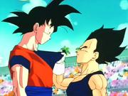 Goku y Vegeta (altura)