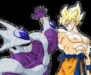 Super Saiyan Goku vs Cooler by Bardock85