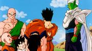 Yamcha porta Son Goku a prendere la medicina