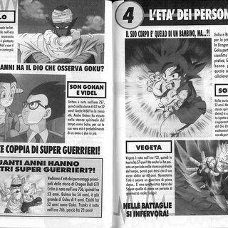 Età personaggi Dragon Ball GT Perfect Files 2.
