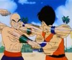 Puño Ametrallador de Ten Shin Han vs Yamcha