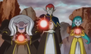 Dragon Ball Heroes God Mission 7 (Gravy, Demigra, & Putine)