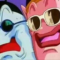 Re Kaioh del Nord e Re Kaioh del Sud con i loro occhiali da sole.