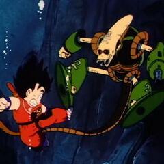 Son Goku si scontra col Robot Pirata.