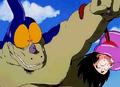 Giran surprised by Goku