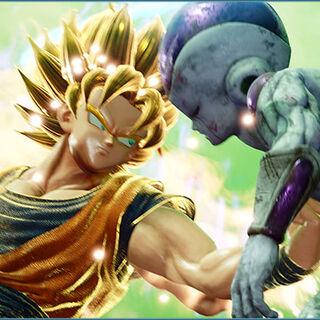 Son Goku combatte contro Freezer.