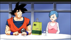Son Goku y Buruma embarazada
