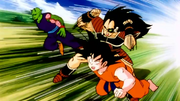 Son goku et piccolo vs raditz